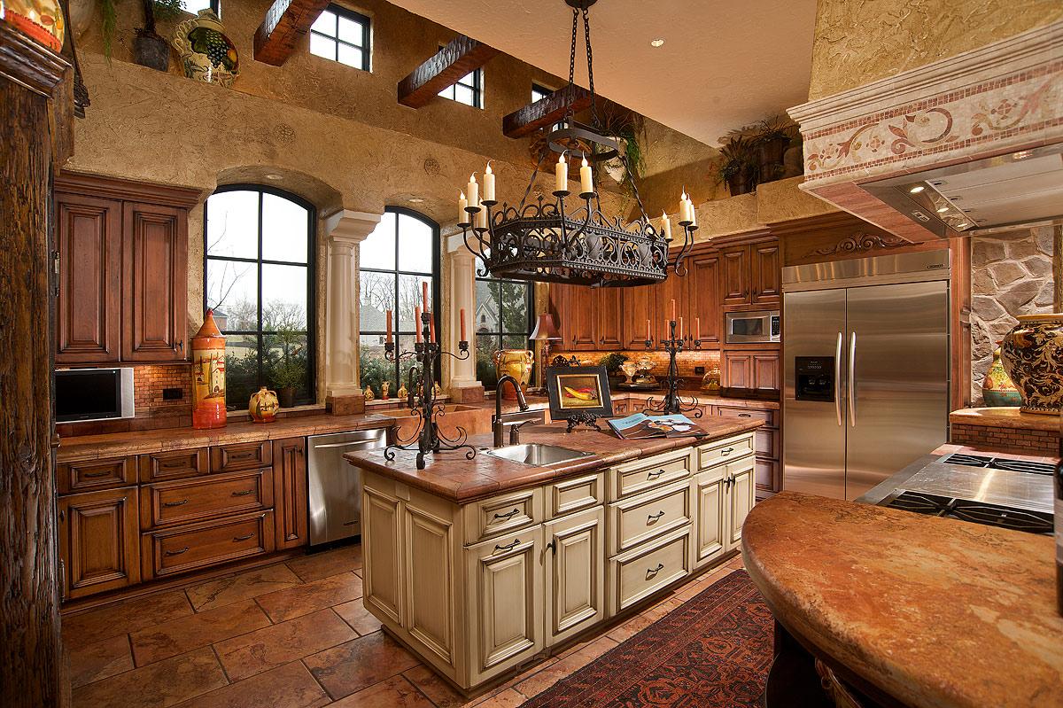 Mullet Cabinet Mediterranean Tuscan Style Kitchen