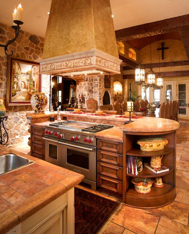 Mediterranean Kitchen Cabinets: Mediterranean/Tuscan Style Kitchen