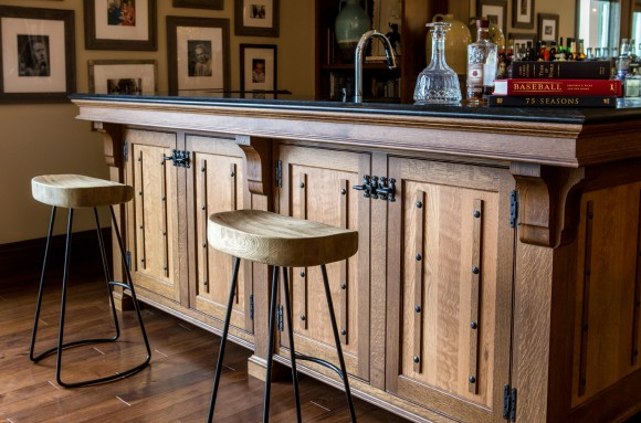 Countryside Transitional Bar with a Southwestern Flair-Details