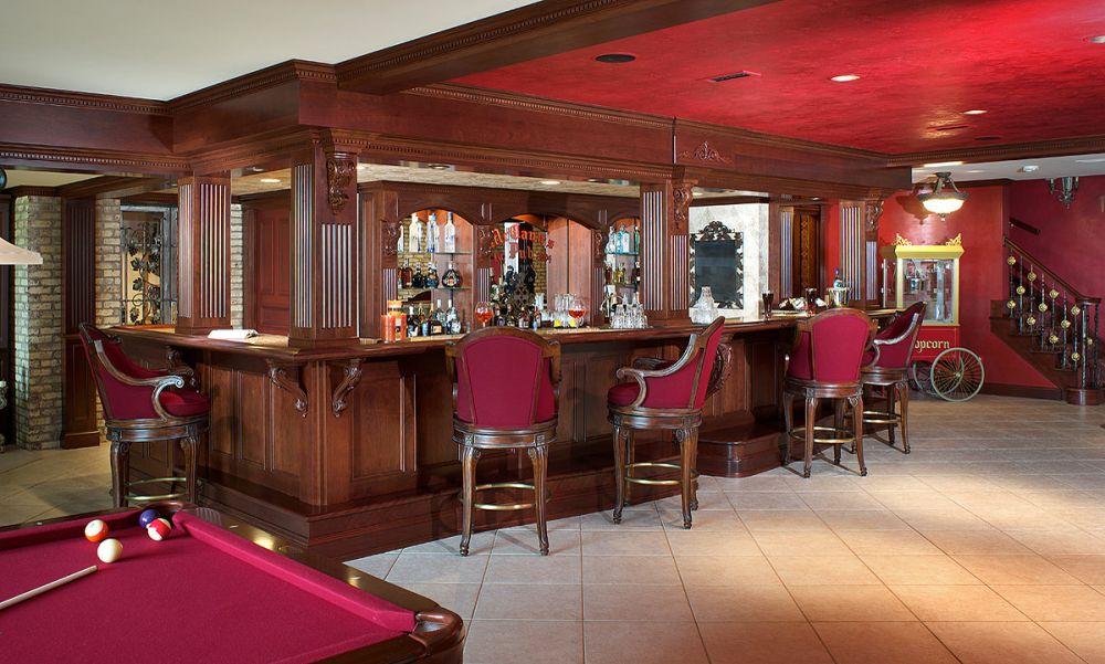 Mullet Cabinet Pub Style Bar, Pub Style Basement