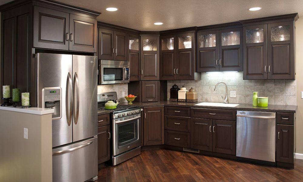 Brown Condominium Kitchen