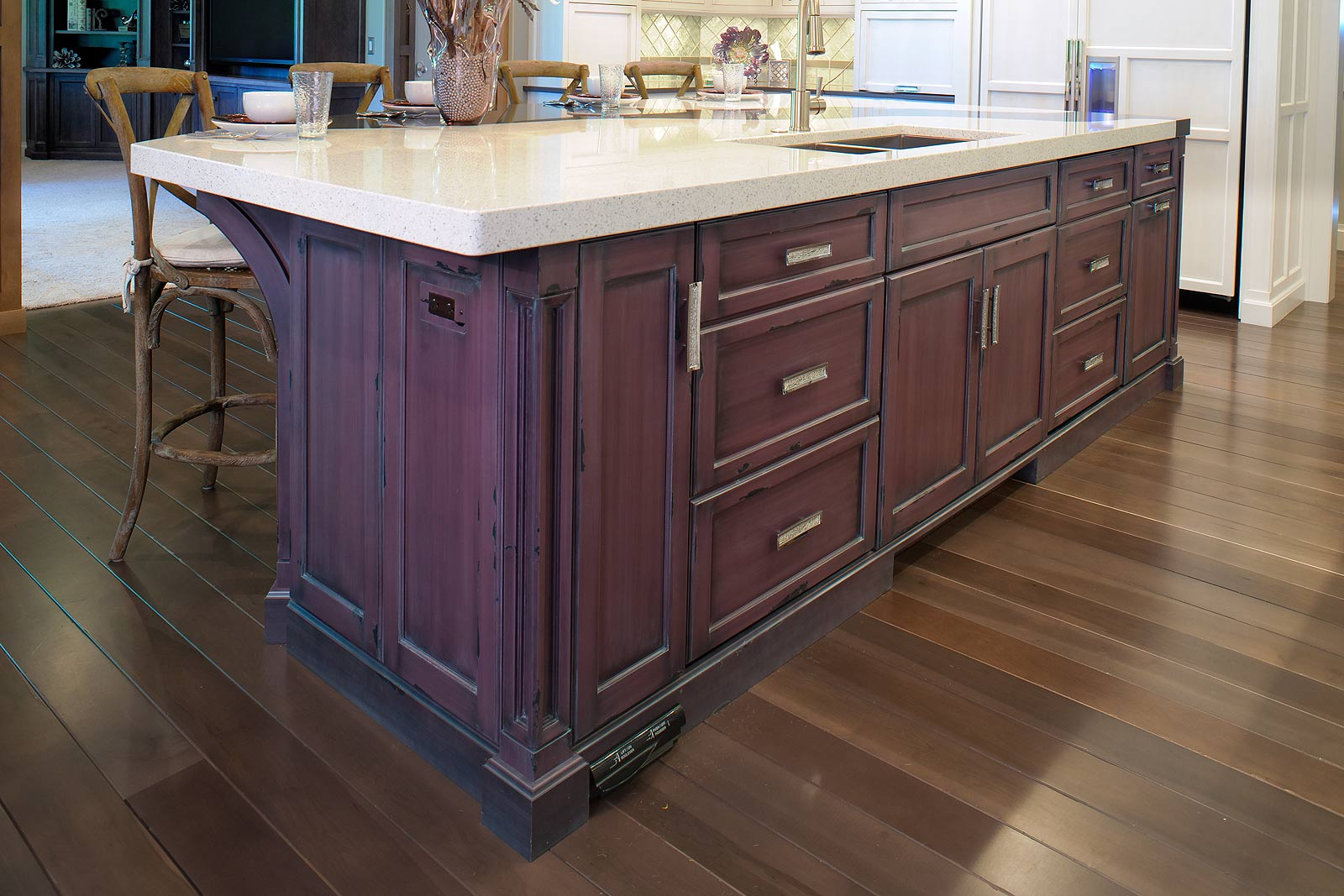 Mullet Cabinet Unique Kitchen With Plum Island