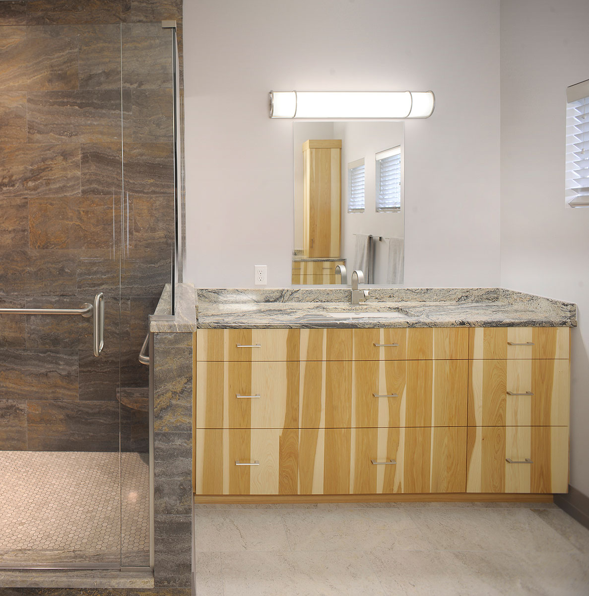 Contemporary Hickory Master Bath