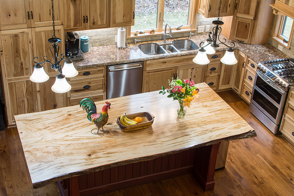 Mullet Cabinet — A Rustic Hickory Kitchen with Live Edge ...