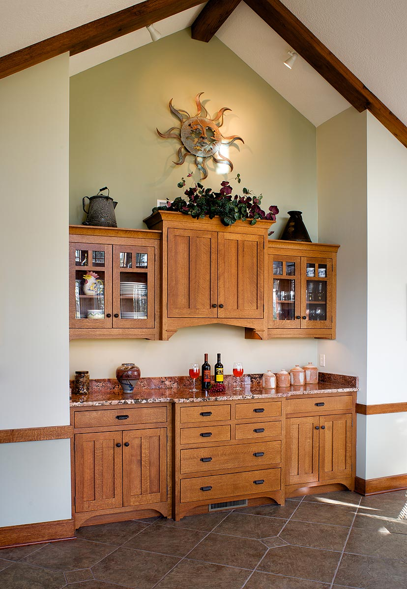 kitchen cabinets in dining room