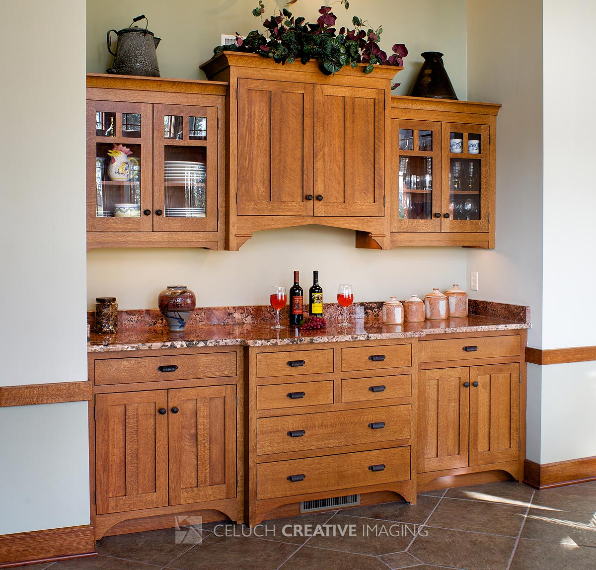 Built In Buffet Dining Room: Arts & Crafts Dining Room